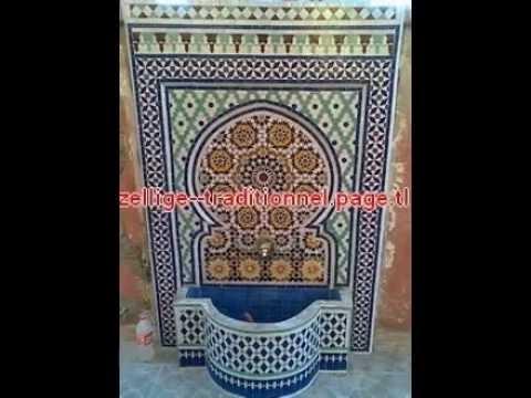 des fontaine murale en mosaique traditionnel marocaine pour l 39 int rieur ou d 39 ext rieur 2013. Black Bedroom Furniture Sets. Home Design Ideas