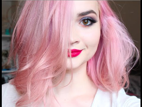 Cotton Candy PINK Hair DIY  YouTube