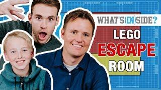 WHAT'S INSIDE...INSIDE A LEGO ESCAPE ROOM! - REBRICKULOUS