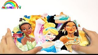 Playing Magic Kinetic Sand Show Disney Princess | Learn Colors For Kid | MonMon TV