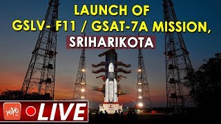 GSLV- F11  GSAT-7A Mission Launch LIVE | Satish Dhawan Space Centre, Sriharikota