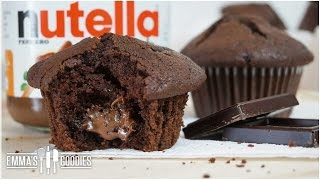 Moist Chocolate Muffin Recipe + Nutella Muffins
