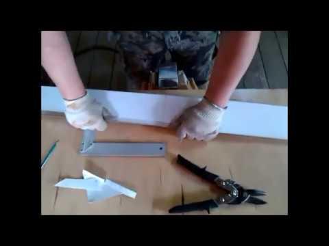 Зарезка наружного угла отлива цоколя - Video Forex