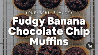 1-Bowl Fudgy Banana Chocolate Chip Muffins (Vegan/GF) | Minimalist Baker Recipes