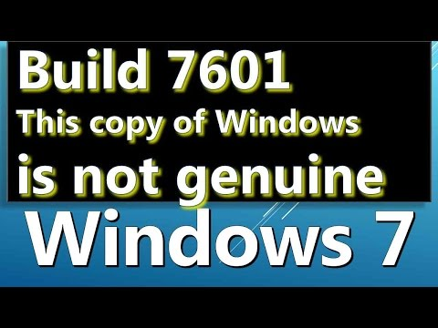 windows 7 build 7601 this copy of windows is not genuine How to FIX