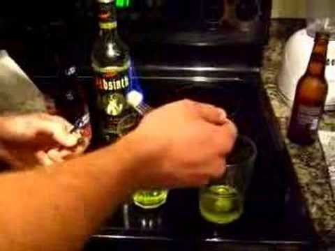 A how to guide of making the drink, Green Fairy