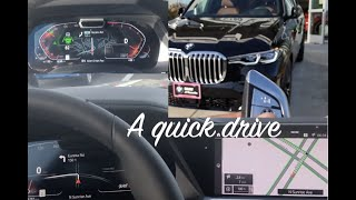 2019 Bmw X7 drive and sport mode