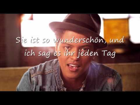 Bruno Mars Just the Way you are deutsche Übersetzung