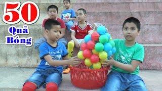 Bé Dương và các anh chơi với 50 quả bóng, Kênh Em Bé ♥