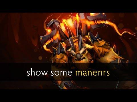 Dota 2 show some manenrs