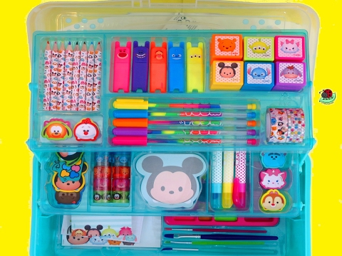 DISNEY TSUM TSUM DELUXE ART SET Creative Activity For Kids | itsplaytime612