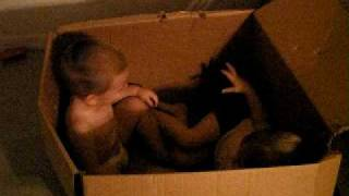 Two kids and a box