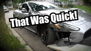 Bought A Maserati - Was Wrecked Inside A Week