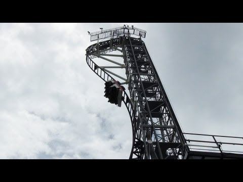 Takabisha World s Steepest Roller Coaster POV Fuji-Q Highland Japan