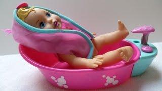 Đồ Chơi Búp Bê Em Bé /Tắm Cho Em Bé (Chị Bí Đỏ)Baby bathtub fun time