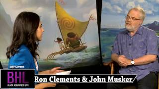 Disney's 'Moana' Interview W/ Director's Ron Clements & John Musker