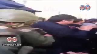 لحظة نقل  جثث الإرهابين من أمام  متحف باردو