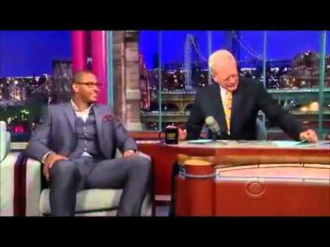 Carmelo Anthony on David Letterman (April 2011)