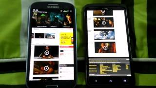SAMSUNG GALAXY S3 VS HTC ONE X BROWSING SPEED COMPARISON.mp4