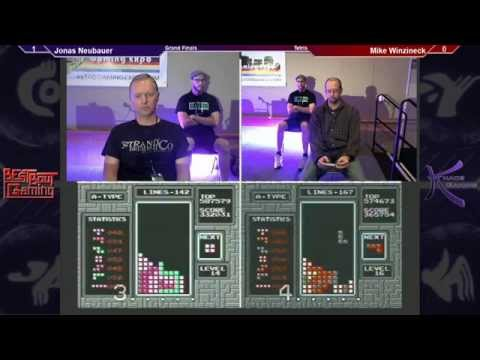 2012 Tetris World Championships Top 8 FINAL ROUND - Jonas Neubauer VS