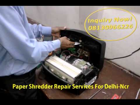 paper shredding machine repair