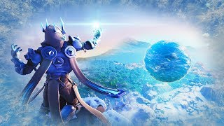 "Fortnite Floating Ice Ball Polar Peak ""Fortnite Ice Storm Event"" (Fortnite Season 7 Event Gameplay)"