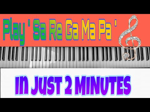Learn ' Sa Re Ga Ma ' in just 2 MINUTES | Best trick to learn Piano