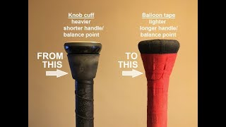 Increase hitting power with the balloon tape/grip - tutorial
