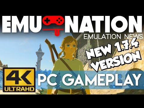 EMU-NATION: Cemu 1.7.4 runs ZELDA BOTW at 4K... AMAZING!