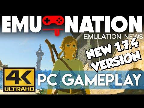 EMU-NATION: Cemu 1.7.4 runs ZELDA BOTW at 4K... AMAZING!