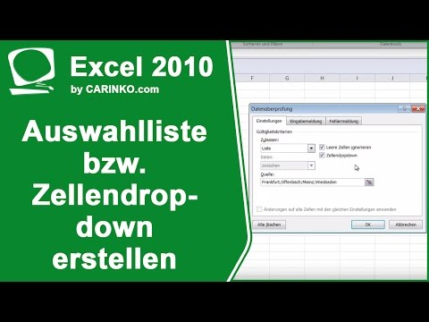 MS Office Excel Auswahlliste bzw. Zellendropdown erstellen einfach erklärt  - www.1-bit.info