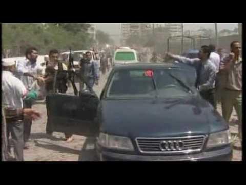Al Jazeera Gaza air strikes footage - 17 May 07