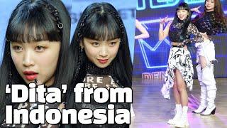 ENG FIRST INDONESIAN K-POP Girl Group Member, 'DITA' in SECRET NUMBER