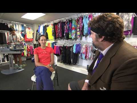 When tennis players get angry, Ana Ivanovic remains calm...