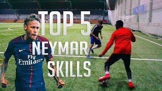 TOP 5 Neymar Skill Moves  Football Skills