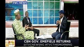 CBN Governor, Godwin Emefiele returns