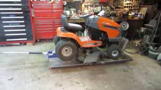 husqvarna lawn tractor that wont shift