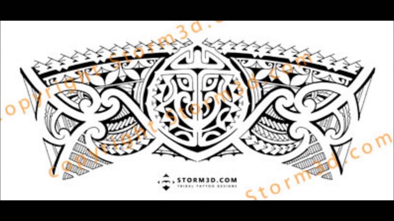Tribal Calf Tattoos Designs
