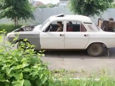 ГАЗ-24 на дровах, первый запуск