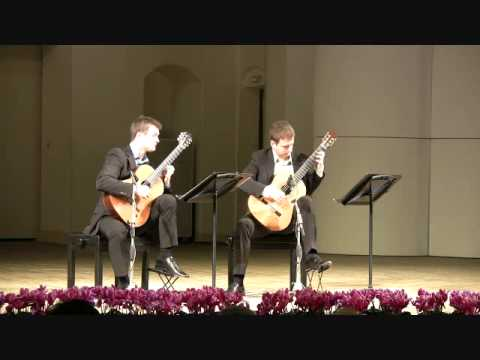 Duo Cologne plays Bach English Suite II, BWV 807 - VI. Gigue