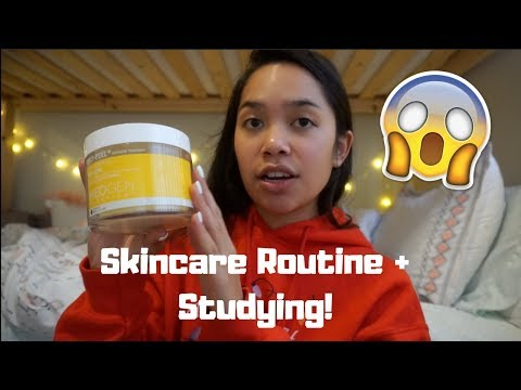 My Skincare Routine, Studying, & Possibly Getting Sick D: