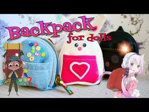Sewing a backpack for dolls handmade Monster High