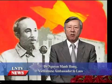 Lao NEWS on LNTV: Vietnamese Ambassador on 70 years National Day.2/9/2015