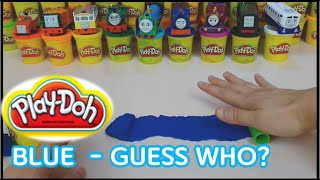(NO.33)Play Doh Rainbow Colors With Thomas and Friends - Mega Pack 36 Cans unboxing~!