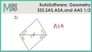 KutaSoftware: Geometry- SSS, SAS, ASA, And AAS Congruence Part 1