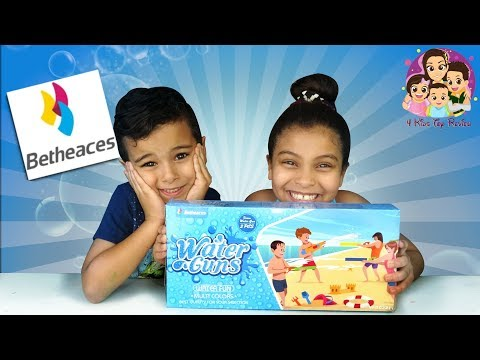 Water Guns For Kids| Betheaces Water Guns! Water Gun Fight - 4 Kids Toy Review