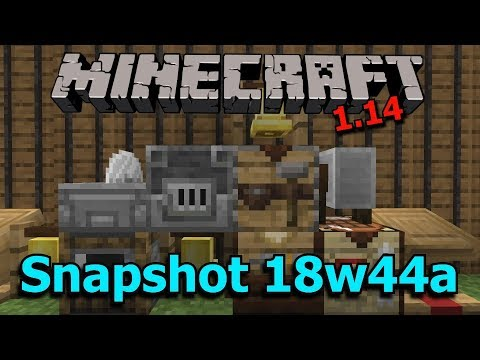 Minecraft 1.14 Snapshot 18w44a- New Crafting Blocks, New Cats, Colored Text!