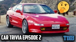 10 Car Quiz Facts You Should Know! - What Does Toyota MR2 Even Mean?!