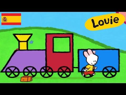 Dibujos animados para niños - Louie dibujame un tren HD