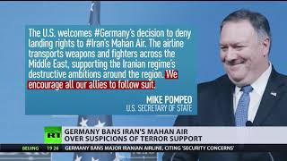Germany bans Iran's Mahan air over suspicions of terror support